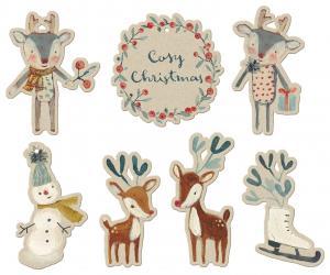 Julklappstaggar/kort Cosy Christmas (14 st), Maileg