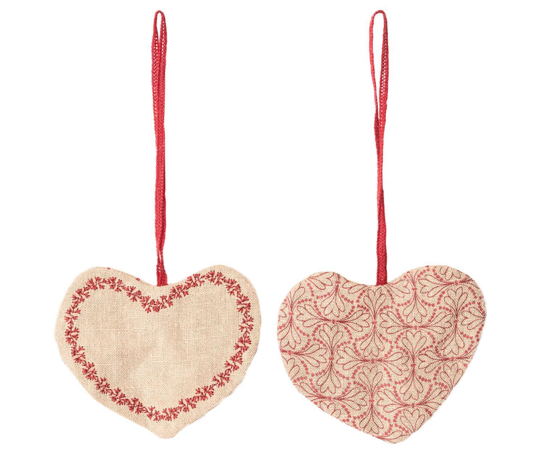 Hjärta med blommor/prickar (att hänga), Maileg