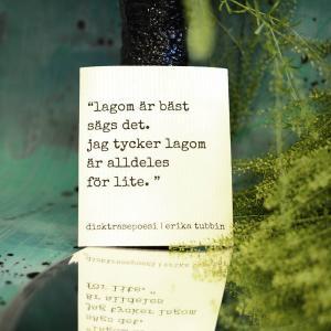 Disktrasa, LAGOM - Erika Tubbin
