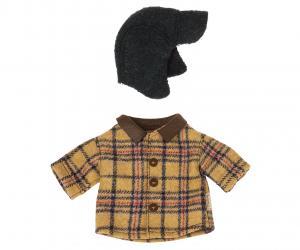 Skogshuggarskjorta och hatt till Teddy Pappa, Maileg    LEV SEP/OKT