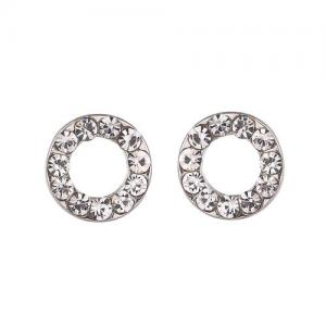 Gemini Örhängen, Strassprydd ring (silverfäste)