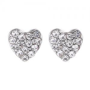 Gemini Örhängen, Strassprytt hjärta (silverfäste)