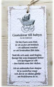 Diktkort - Gratulerar till babyn
