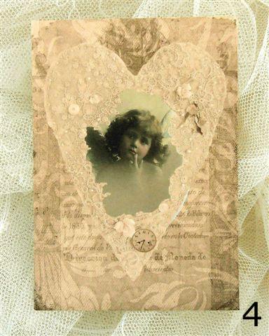 Kort från Annas Idéer - Flicka i hjärta