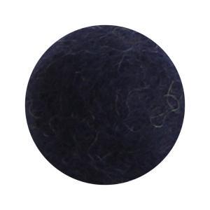 Marinblå blomma i tovad ull, liten