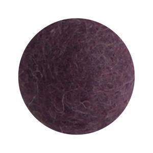 Mörk lavendel blomma i tovad ull, liten