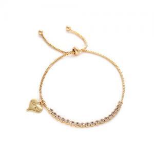 Armband, Reglerbar guldlänk med stenar - Gemini