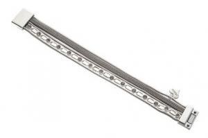 Armband, 5 silverfärgade kedjor i olika varianter - Gemini