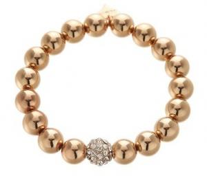 Armband, Elastiskt med guldkulor - Gemini