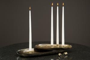 Ljushållare med magnet (antik mässing)