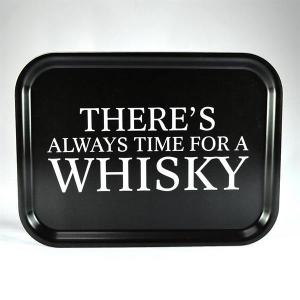 Bricka: There´s always time for a whisky - Mellow Design (rektangulär)