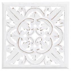 Carve Tempeltavla/Väggdekoration, vit (30x30cm 770-430-10)