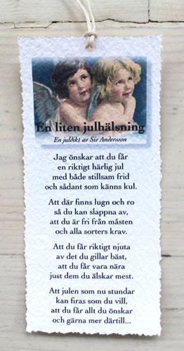 Diktkort - En liten julhälsning