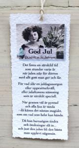 Diktkort - God Jul