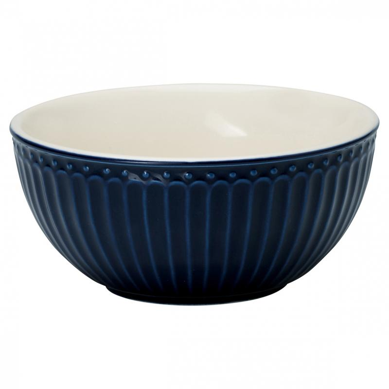 GreenGate Cereal Bowl Alice Dark Blue