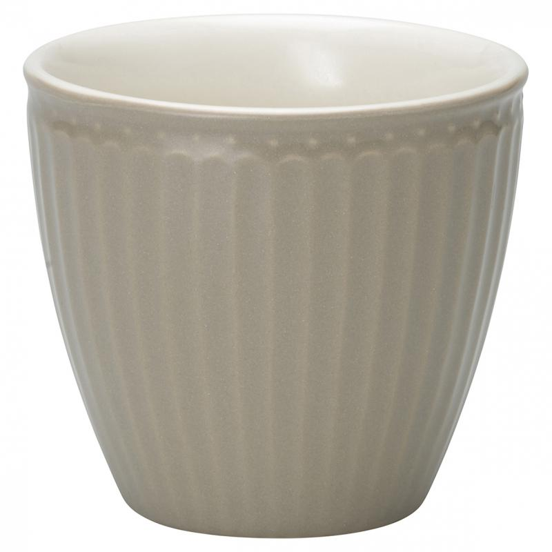 GreenGate Latte Mugg Alice Warm Grey