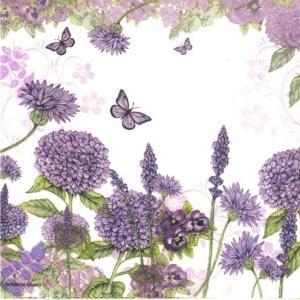 Ambiente Servetter - Purple wildflowers- Kaffe