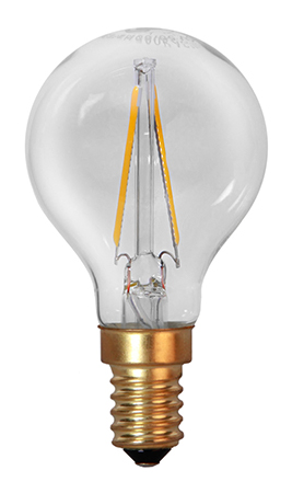 LED lampa, dekoration, klar filament (E14)