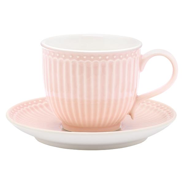 GreenGate kopp med fat Alice pale pink