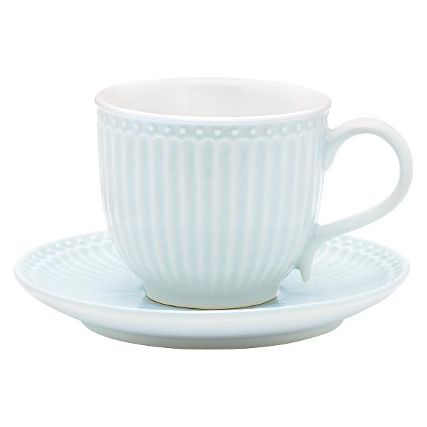 GreenGate kopp med fat Alice pale blue