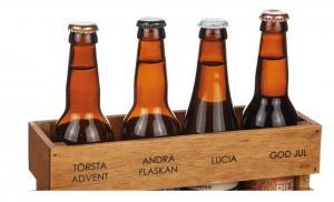 Trälåda ADVENT - med plats för 4 flaskor