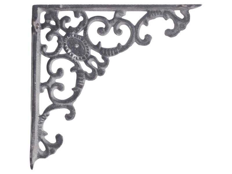 Chic Antique Konsol, antikgrå gjutjärn- 19x19cm