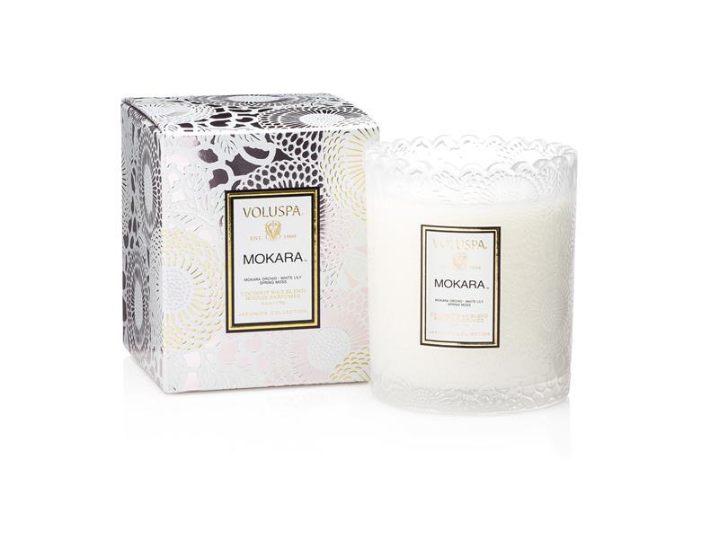Voluspa Scalloped Edge Candle - Mokara (doftljus, Limited Edition)