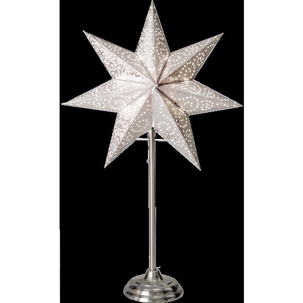 Stjärna på fot, Antique - Vit/Silver
