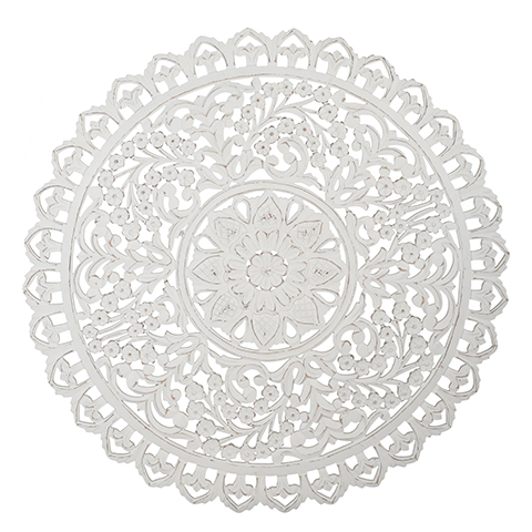 Carve Tempeltavla, rund vit (dia: 90 cm 770-485-10)- Beställningsvara