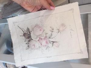 """Sagen Vintage Design, A4 ark """"Amour"""" - handgjort papper"""