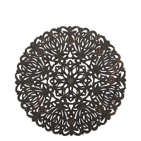 Carve Tempeltavla, rund svart (dia: 90 cm)- inkl Frakt