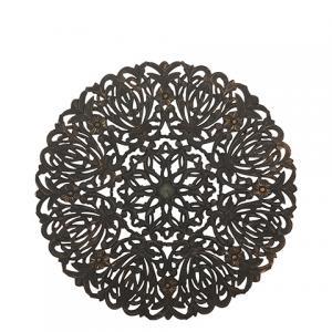 Carve Tempeltavla, rund svart (dia: 90 cm)-770-487-60