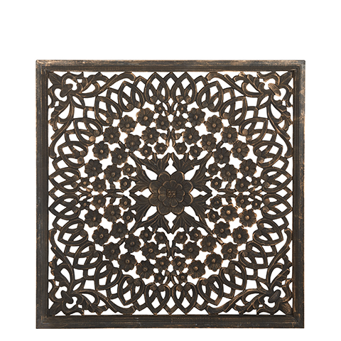 Carve Tempeltavla, svart (90x90 cm 770-461-60)