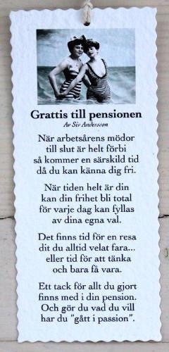 Diktkort - Grattis till pensionen
