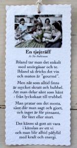 Diktkort - En tjejträff