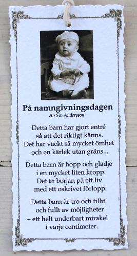 Diktkort - På namngivningsdagen