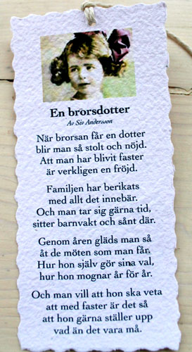 Diktkort - En brorsdotter