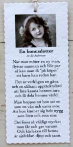 Diktkort - En bonusdotter