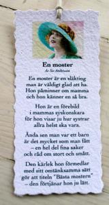 Diktkort - En moster