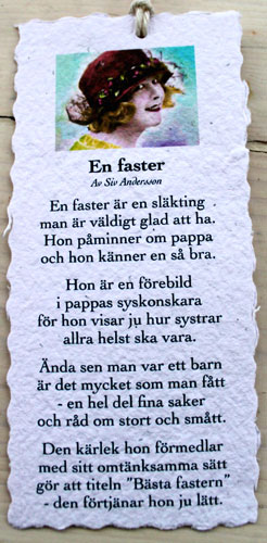 Diktkort - En faster