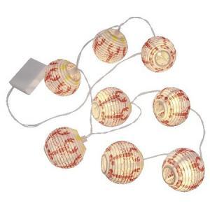 Ljusslinga med rislampor, kräftor