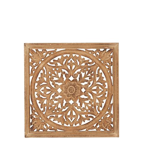 Carve Tempeltavla, natur/guld (45x45 cm 770-452-00)
