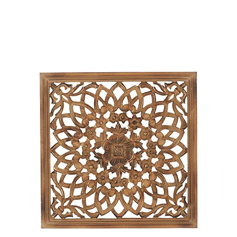 Carve Tempeltavla, Natur/guld (45x45 cm 770-462-00)