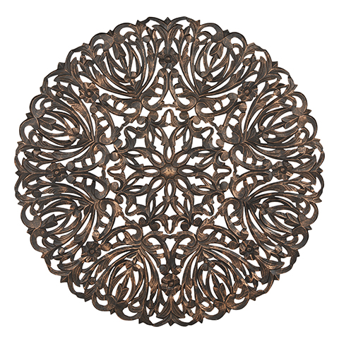 Carve Tempeltavla, rund svart (dia: 115 cm) 770-486-60