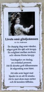 Diktkort - Livets små glädjeämnen