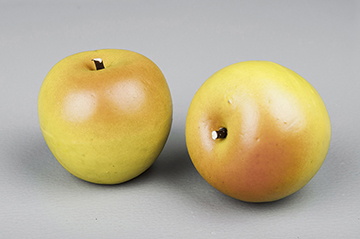 Äpple, grön/gult (dekoration)