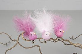 Fågel med fluffig stjärt - för dekoration- Mellanrosa