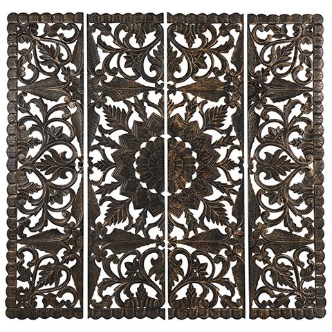 Carve Tempeltavla , Svart/Guld XXL (180x180 cm 770-499-60) - Beställningsvara