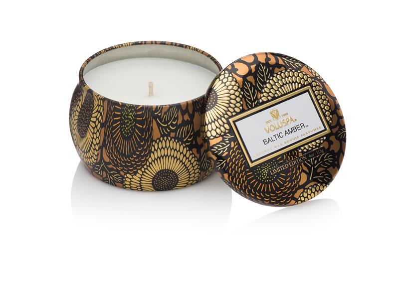 Voluspa Decorative Tin Candle Baltic Amber (doftljus)