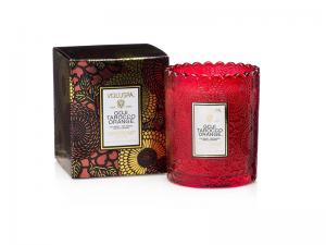 Voluspa Scalloped Edge Candle - Goji & Tarocco Orange